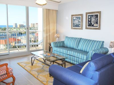 Photo for Breathtaking 8th Floor View of the Coast & Sunsets.  Close to the Beach - Tpb803
