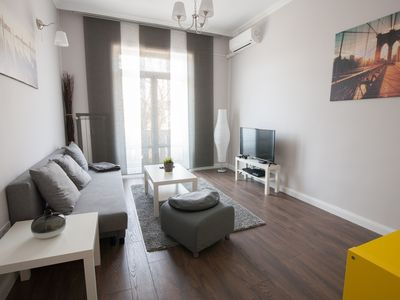 Photo for Bright well furnished apartment with high ceilings in the heart of Sofia
