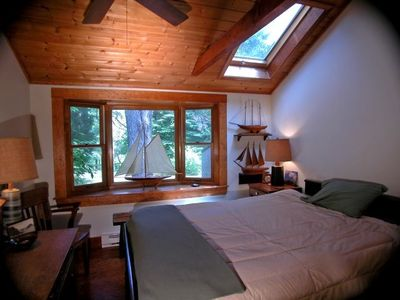 Bedroom, Note Skylight over bed.