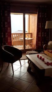 Photo for Les Saisies - cosy 50 m² family flat with swimming pool 150 m from the slopes