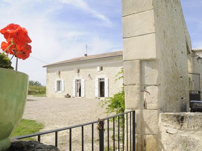 Photo for Beautiful renovated farmhouse with great views & pool close to Eymet, sleeps 10.