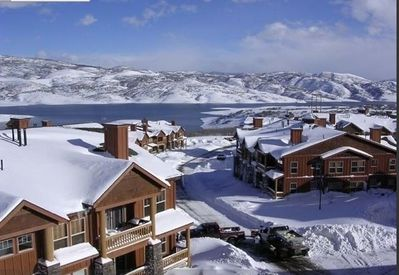 Fox Bay Condominiums have view of Deer Valley and the Jordanelle Reservoir