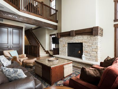 Photo for Slope-side cottage with mountain views -- concierge, winter shuttle service, heated pool, sleeps 16