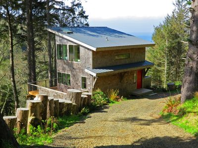 Photo for Green Flash Cabin. Miles of Forest & Ocean Views. Paradise Awaits You!