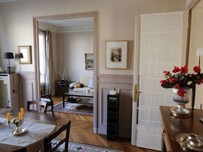 Photo for Typical Parisian apartment in Haussmannian building