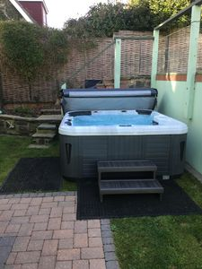 A little bit more luxury with a hot tub in the garden!