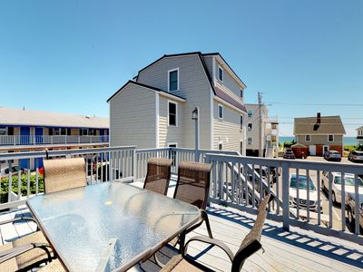 Photo for Charming home w/ rooftop deck & partial ocean view - 75 yards to the beach!