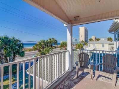 Photo for Beautiful, waterfront home w/ enclosed yard, patio, balcony & private beach