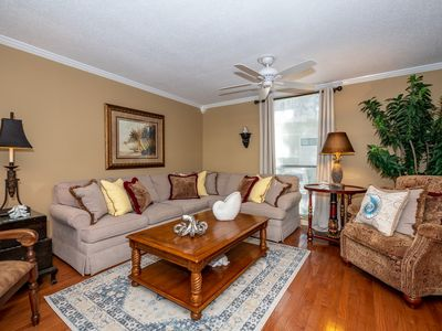 Photo for Nicely Remodeled! Steps to the pool.  Short walk to beach and Coligny Plaza!