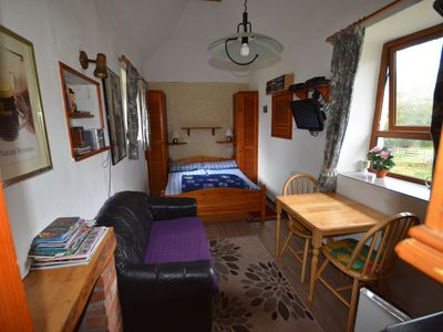 Photo for thatched 2 person cottage with double bed