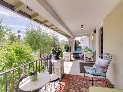 Photo for Charming getaway with porch and an amazingly central location