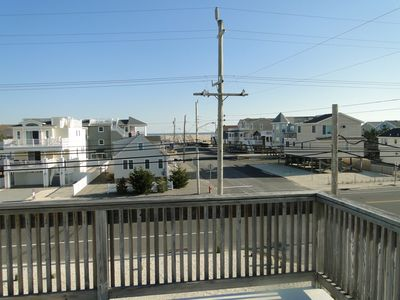 Photo for Ocean view, 5 houses from the beach raised ranch with 2 spacious decks.