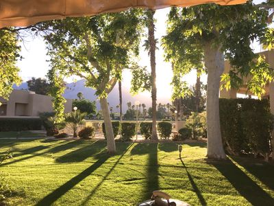 Photo for Desert Princess End Unit 2 Bedroom 2 Bath On Golf Course Steps from Pool and Spa