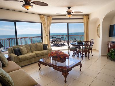 Photo for Luxurious Penthouse Sonoran Sun Beach Front Condo 2BD/2BA HUGE Terrace sleeps 6