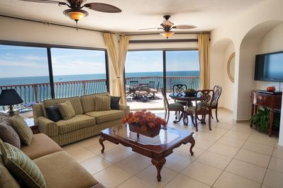 Great Room with Stunning Ocean Views and plenty of space to stretch your legs.