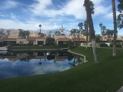 Photo for 3Br/3Ba Desert Home on Private lake, Mountain Views, Tennis, Swimming, BBQ