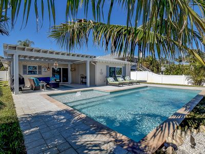 WATERFRONT pool home 2BR/2BA SLEEPS 5 & 2 miles from the beach.