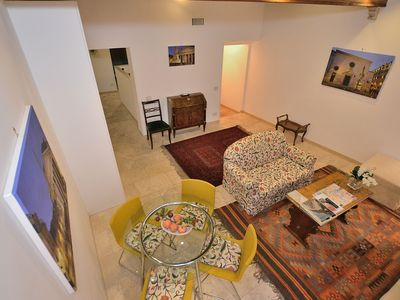 Photo for exclusive one step away from Pantheon, comfortable and spacious living room with sofa bed