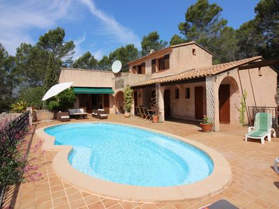 Photo for Villa in a charming medieval village in the heart of La Provence Verte