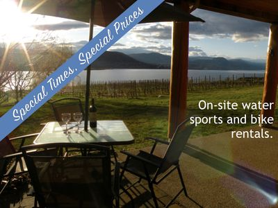 Photo for Beautiful lakefront vineyard in the heart of wine country, 2BR suite