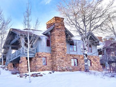 Photo for Spacious Townhome walk to slopes w/ Private Hot Tub & Ritz Carlton pool access.