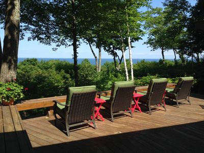 Sunset Treehouse where you can enjoy panoramic views of Lake Michiga