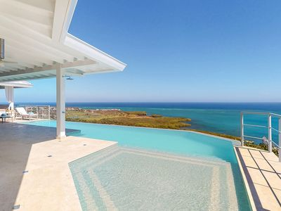 Photo for NEW LISTING! Incredible sea views w/ private pool & deck - walk to the beach!