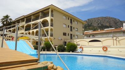 Photo for Apartment in Estartit near the beach with pool water slides and jardi