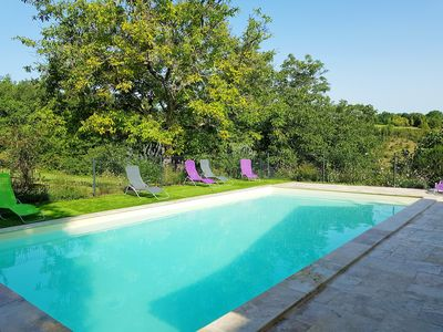 Photo for Country house 10 persons with air-conditioned rooms, heated pool