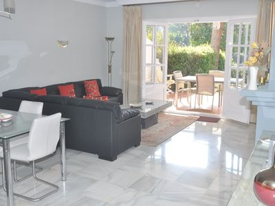 Photo for Spacious south-facing ground floor 2 bedroom apt, 6 pools, sat-tv & Wifi