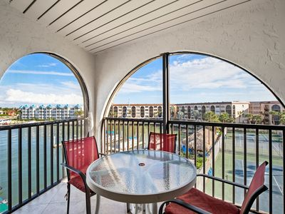 Photo for Best water views form the balcony of this top floor corner unit - Unit has dishwasher and laundry...