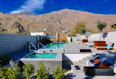 Enjoy plenty of sunshine and mountain views by our heated pool!