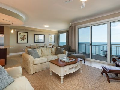 Photo for Luxurious oceanfront condo w/ balcony, beach access & shared pools/hot tub!