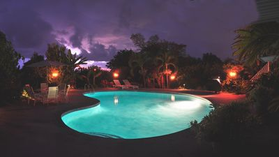 The Kona Retreat Pool with Full Moon on the side.