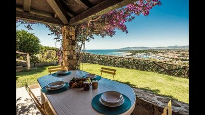 Photo for Sea view villa just steps from the beach and the port