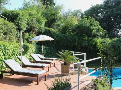 Photo for Spacious villa with private pool Rome 20 minutes away overlooking national park