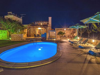 Photo for This 3-bedroom villa for up to 5 guests is located in Stavromenos and has a private swimming pool, a