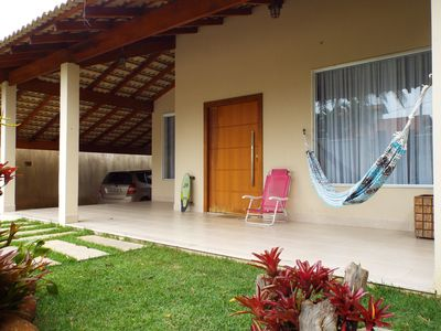 Photo for House in Manguinhos-Serra / ES. Kiosk with barbecue. Next the beach.