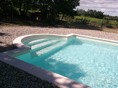 Photo for Charming house with pool at the foot of Mont Ventoux