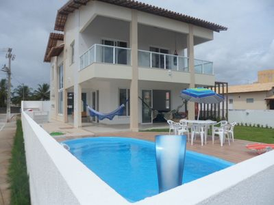 Photo for Beach house with pool in closed-front condo to the sea