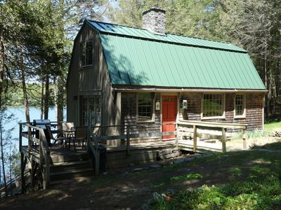 Photo for Westport Island Cabin on the river with private dock. Drive, boat or fly in.