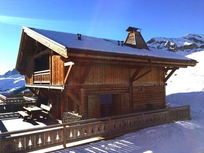 Photo for Beautiful recent chalet, very comfortable, ski IN & OUT with exceptional views