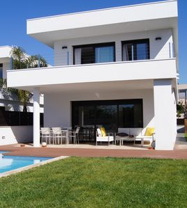 Photo for Modern house on the beach with pool and WIFI
