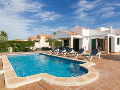 Photo for Villa in Cap d'Artrutx Situated Located In A Quite Resort. Sleeps 6.Private pool