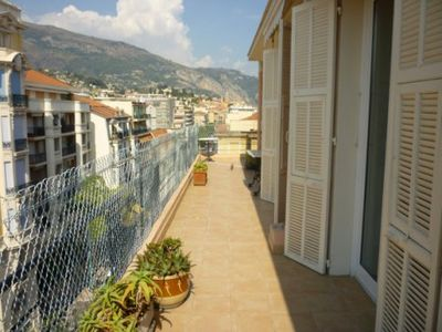 Photo for 2 ROOMS CONVIVIAL - LARGE TERRACE SEA VIEW - LAST FLOOR - MENTON CENTER