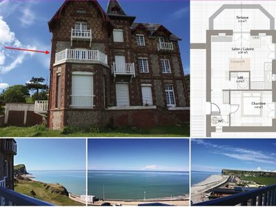 Photo for Exceptional 180 ° view at Veulettes sur Mer - Normandy