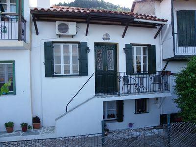 Photo for Green house Traditional but modernised 3 story stone house sea and sunset views.