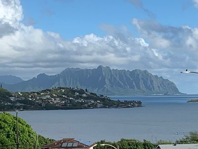 Photo for 3-4 brm, superb views, nestled in jungle, 5 mins to Kailua Bch, 30-nt minimum