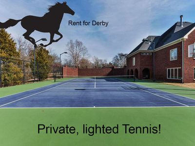 Photo for KY Derby House - Tennis Court - 8,500 sq ft home on 5 acres, gated community