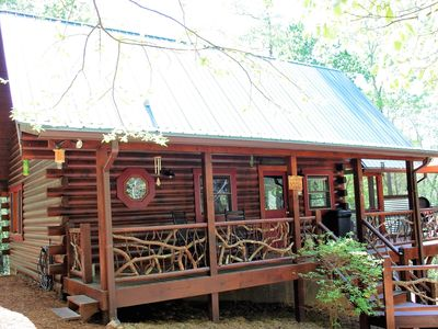 Photo for Mountain Laurel Cabin, Private Acre Size Pond, Folk School, Fishing, WiFi
